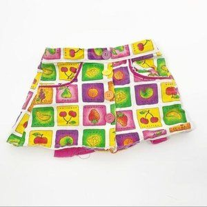 Sparkle SZ 4 Toddler Vintage Fruit Print Shorts